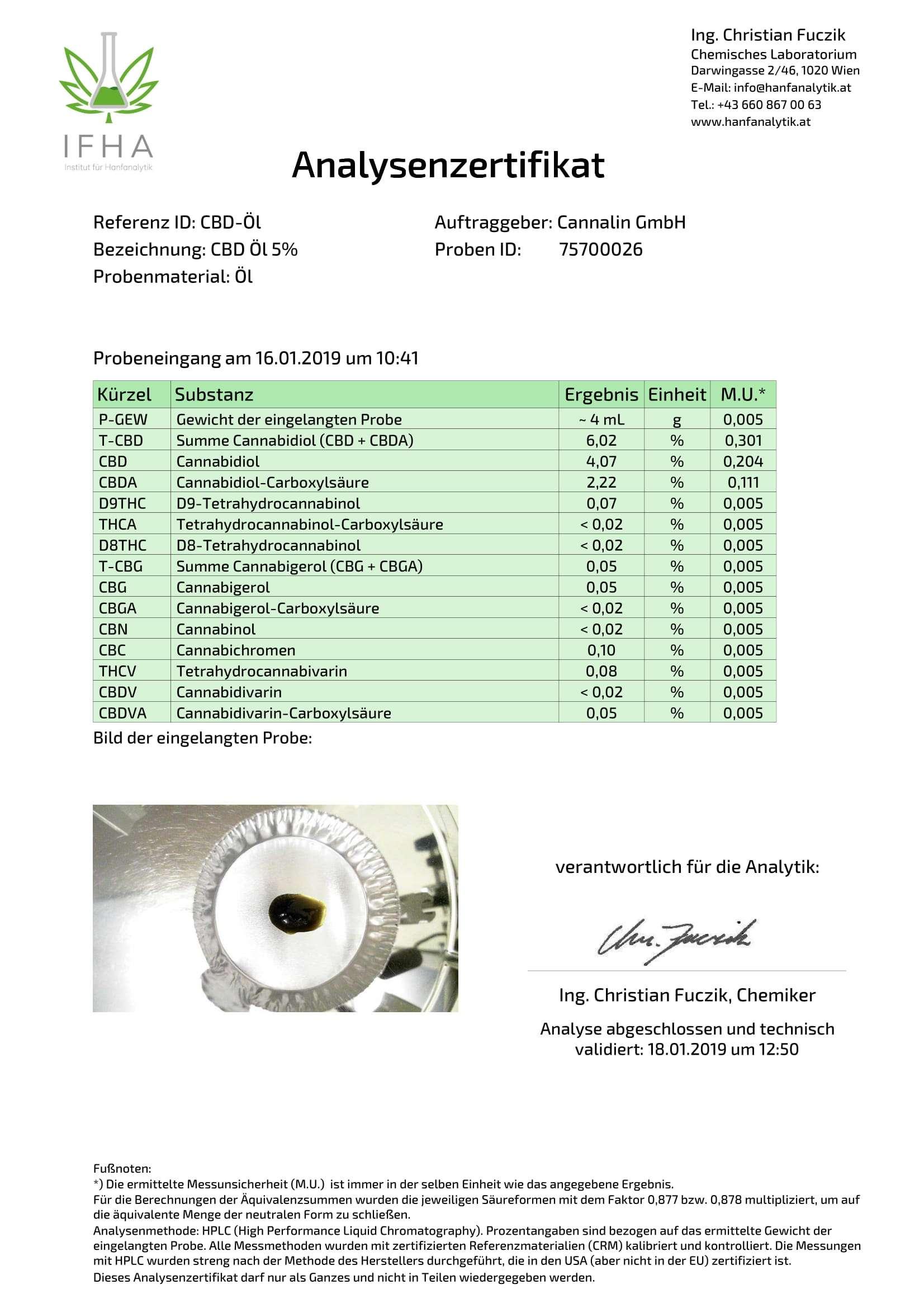 CBD Öl 5% 10ml | 4 zum Preis von 3 Analysenzertifikat