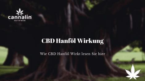 CBD Hanföl Wirkung