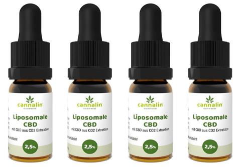Liposomales CBD 2,5% Angebot 10ml   4 zum Preis von 3